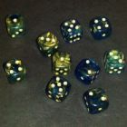 12mm Goldmist Spot Dice - Blue